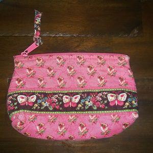Vera Bradley Wristlet/Makeup Bag Pink Floral